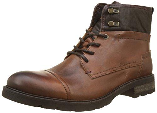 Tommy Hilfiger heren leer textiel mix Chukka Boots, bruin (Winter Cognac), 46 EU