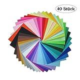 Heatigo filzstoff,Bastelfilz 40 Farben DIY Handwerk Nähen