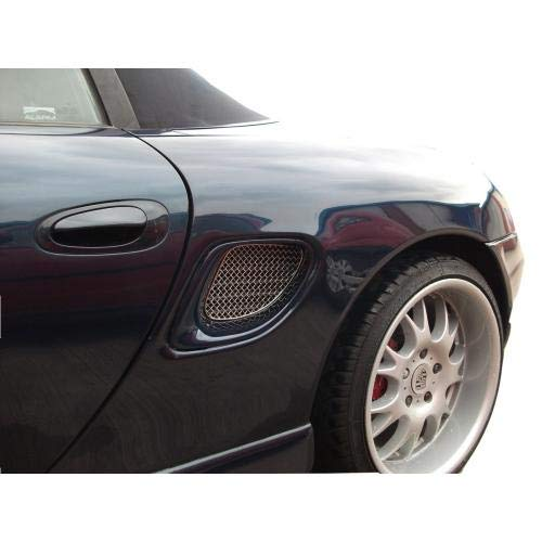 Zunsport Compatible with Porsche Boxster 986 - Side Vent Set - Silver Finish (1996 to 2004)