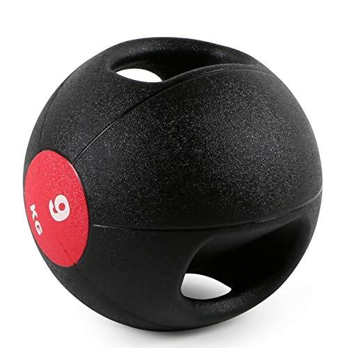 Balón Medicinal Bola De La Medicina De Goma Bola Inflable con Asa, Inicio Gimnasio Core Músculo Entrenamiento De Entrenamiento Transicio Ejercicio Aeróbico Equipo De Aptitud (Size : 9kg/19.8lbs)