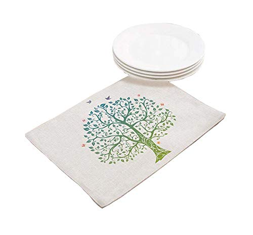 Black Temptation Set von 3 Big Tree Place Mats Setzer Isoliermatten für Kinder