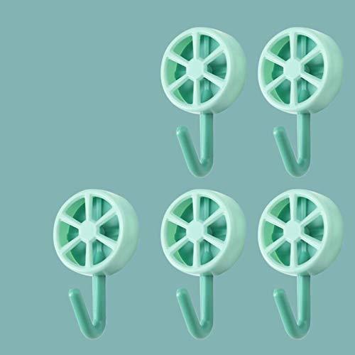 CAVIVIUK Ganchos creativos para Llaves de 5 Piezas para Cocina, Dormitorio, baño, Oficina,Verde
