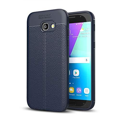 YUNCHAO Funda Protectora de para Galaxy For Samsung Galaxy A3 (2017) / A320 Funda Protectora Litchi Texture TPU Caja del teléfono Celular (Color : Navy Blue)