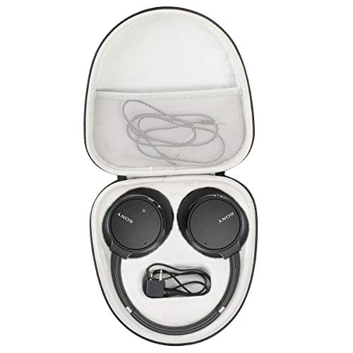 Khanka Duro Viaje Estuche Bolso Funda para Sony WH-CH700N/CH500 Auriculares inalámbricos Noise Cancelling Bluetooth Headphones.(Solo Caja)