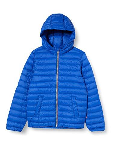 United Colors of Benetton Jungen Giubbotto Mantel, Blau (Surf The Web 19r), 128 (Herstellergröße: Medium)