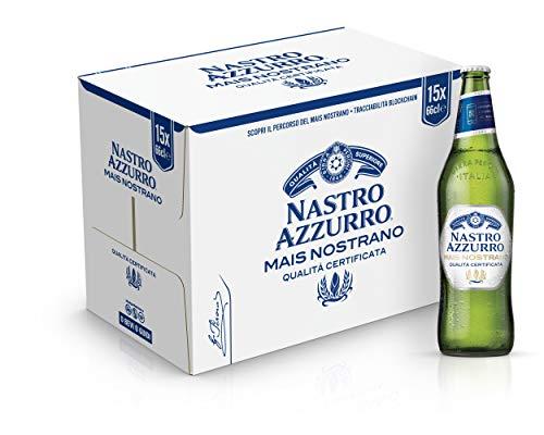 Nastro Azzurro Mais Nostrano Birra Alcolica - Cassa da 15 x 660 ml