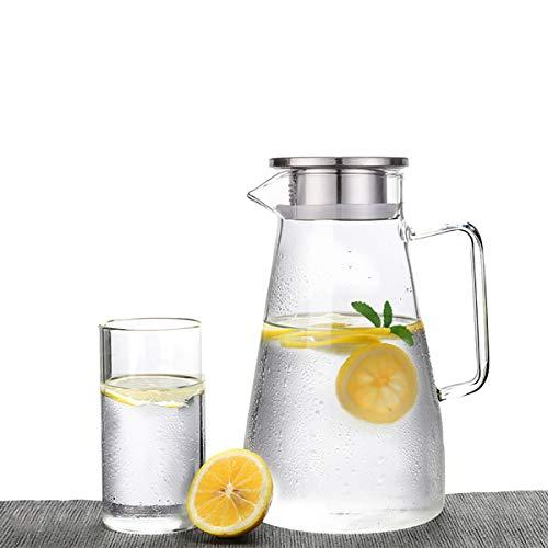 DyNamic 1.8L Roestvrijstalen Karaf Thee Sap Water Glazen Fles Drinkfilter