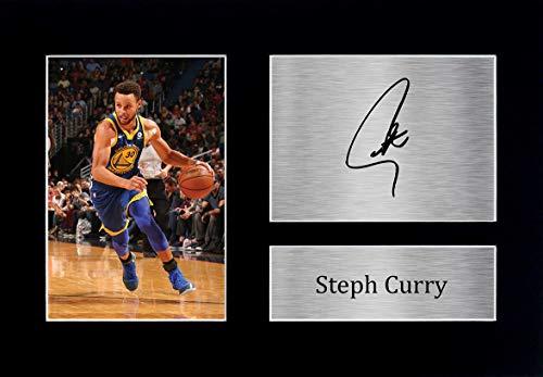 HWC Trading Stephen Steph Curry A4 Ungerahmt Signiert Gedruckt Autogramme Bild Druck-Fotoanzeige Geschenk Für Golden State Warriors Basketball-Fans