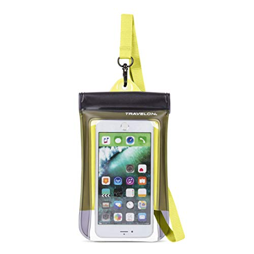 Travelon Floating Waterproof Smart Phone/Digital Camera Pouch, Yellow