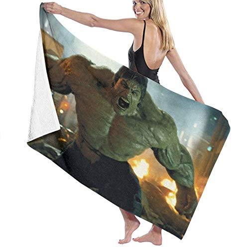 h-u-l-k Toalla de playa de secado rápido toalla de baño de microfibra súper absorbente toalla ligera para playa, piscina, spa, natación, senderismo y uso en el hogar