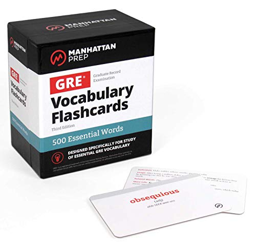 500 Essential Words: GRE Vocabulary Flashcards (Manhattan Prep GRE Strategy Guides)