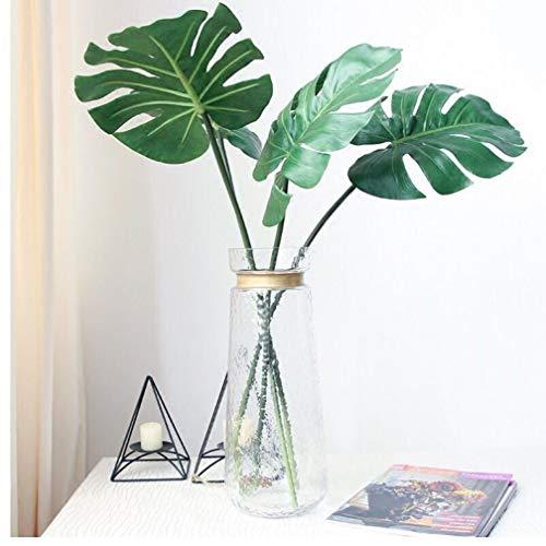 12pcs Grande Falso árbol Artificial de Palm Monstera Hoja Hojas de plástico Verde de la Boda de Bricolaje decoración Flores Hojas de Las Plantas
