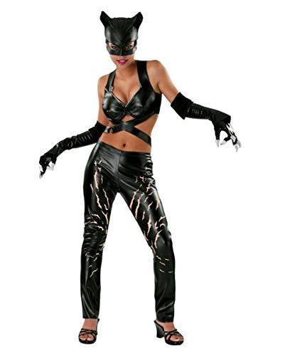 Catwoman Comic Deluxe Kostüm Damen 4 teilig Leggings Top Maske Handschuhe - S