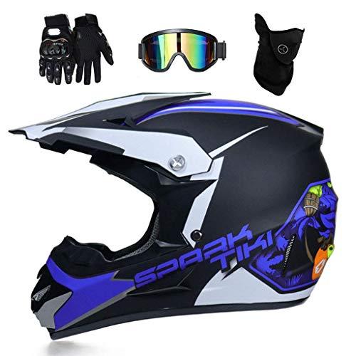 AIRER Jugend MTB Motocross Helm Set, D.O.T Zertifiziert Volles Gesicht Off Road...