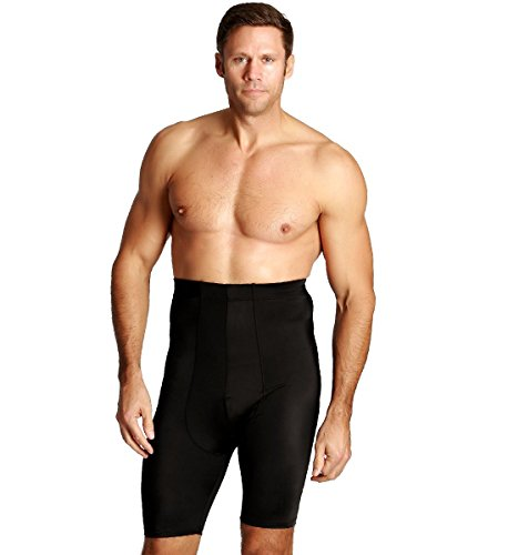 Insta Slim Mens Compression Waist Trimming Undershorts XL Black, The Magic is in The Fabric!