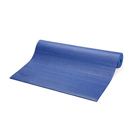 Tapete de Yoga PVC ecológico Asana indicado para iniciantes, ginástica e pilates 183x60cm Bodhi (Azul)