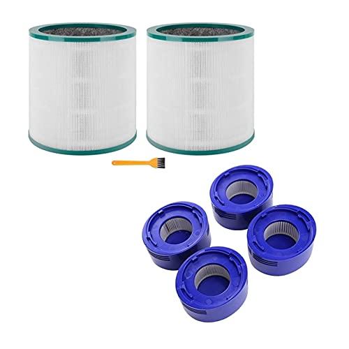 Filtro de aspiradora 2 Establecer Accesorios para aspiradores: 1 Set Hepa Post-Filters & 1 Set Purifier de Aire Filtro HEPA filtros de aspiradoras (Color : Purple White)