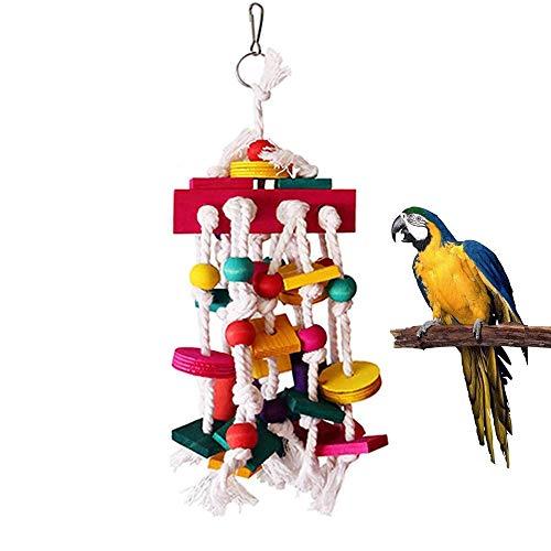 SHINYLYL-EU Juguete para masticar pájaros, bloques de madera, juguetes para loros, juguetes para loros, grandes y medianos, juguetes de mordida para loros y pájaros pequeños y medianos