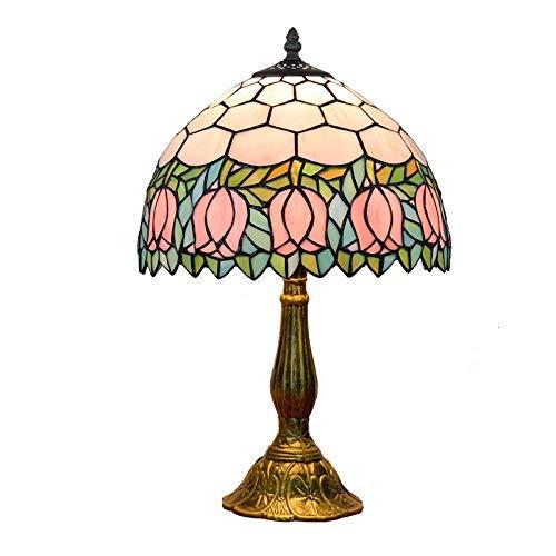 ZGQA-GQA Vetro di Fiore Tiffany Creativa Color Table Lamp Soggiorno Sala da Pranzo Camera da Letto Comodino Lampada della Barra della Decorazione del Giardino lampade Tiffany Coperta