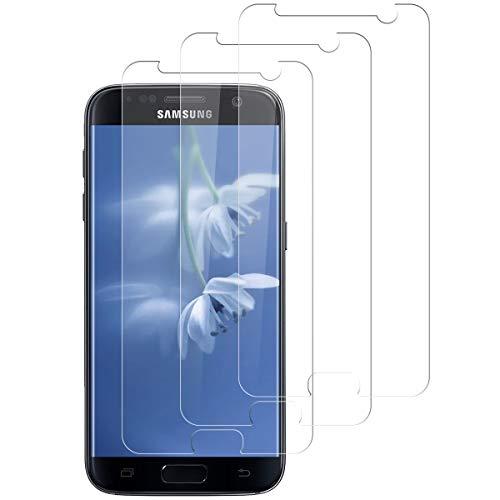 Aspiree Ecran Protection pour Samsung Galaxy S7, Lot de 3, Verre Trempé Dureté 9H, Anti-Rayure, Sans Bulles D'air, HD 99% Transparent