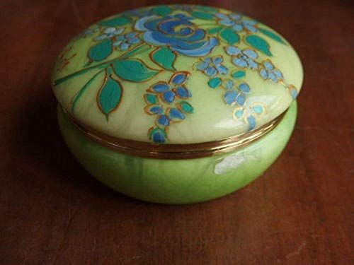 Portagioie in alabastro dipinto a mano