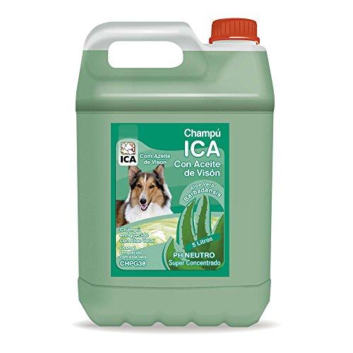 ICA CHPG38 Champú de Aceite Visón con Aloe Vera para Perros
