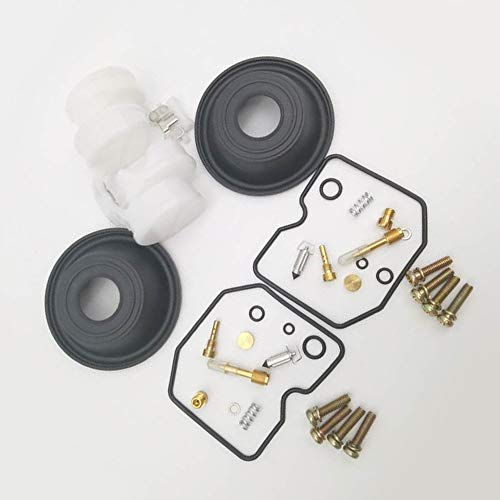 2 Configurar el kit de reparación de carburador Kit de reparación de CARB REPORTE PARA KAWASAKI VULCAN 500 EN500 ES 500 DIAFRAGM DE EXTRANJERO CON JUNTA, AGUJA DE FLOTE TODO EN UN PAQUETE Kit de herra