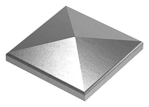 Fenau | Pfeilerbedecker/Pfosten-Kappe | für Quadratrohr | Maße: 80x80 mm | Stahl S235JR, roh