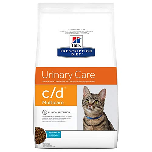 Hill' S Prescription Diet C/D Urinary Care al pescado oceánico para la salud de las vías urinarias del gato, 5 kg