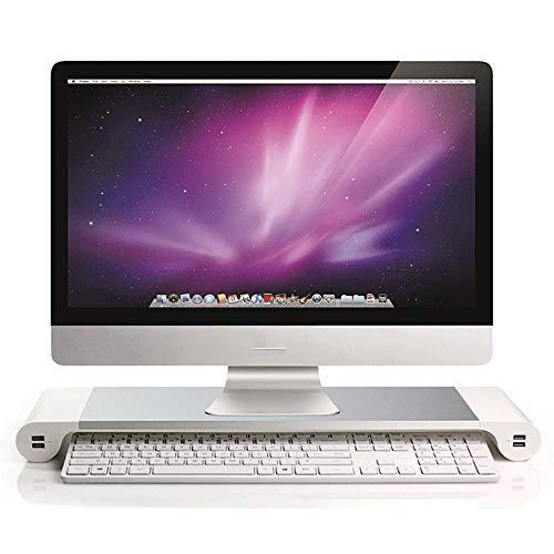 VBARV Universal-Monitorständer aus Aluminium, tragbarer Laptopständer, ergonomischer Halter mit 4-Port-USB-Anschluss und Tastaturspeicher für PC-Desktop-Laptop