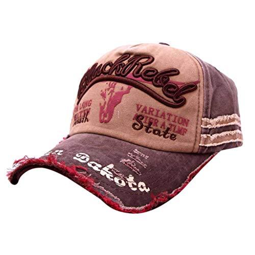 EUCoo - Gorra de béisbol unisex con bordado, estilo vintage, estilo hip-hop/personalizado, sombreros de baile