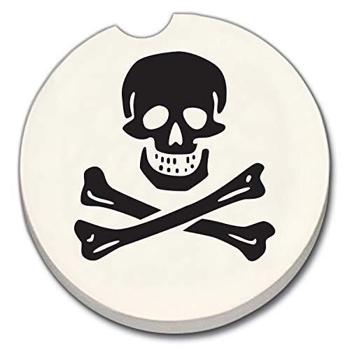 Skull and Crossbones Auto Coaster - Single Coaster for Your Car