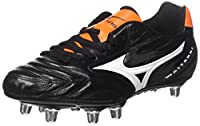 Mizuno Men's Waitangi Cl Rugby Boots, Nero (Black/White/Orange Clown Fish), 12 from Mizuno