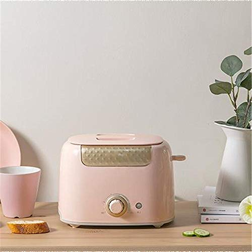 Tostadora casera máquina de pan multifunción 2 tostadoras tostadora para desayuno@Rosa