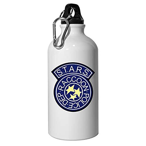 Rpd Stars Badge - Botella de agua (aluminio, reutilizable, 400 ml), color blanco