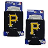 Official Major League Baseball Fan Shop Authentic 2-Pack MLB Insulated 12 Oz Can Cooler (Pittsburgh Pirates)