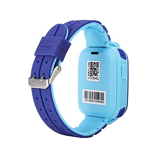 SHYEKYO Reloj De Pulsera Digital, Reloj Inteligente Impermeable XP67 Resistente Al Agua para Niños De 3 A 12 Años para Regalo(Azul)