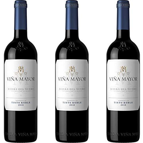 Viña Mayor Vino Tinto Roble - 3 botellas x 750ml - total: 2250 ml