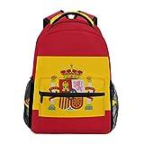 Eslifey Mochila de viaje con la bandera de España para estudiantes