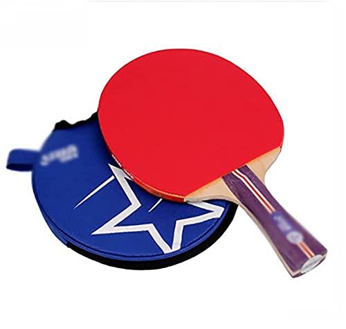 JIANGCJ bajo Precio. Paddle de Tenis de Mesa Profesional avanzado Raqueta de Ping Pong con Estuche de Transporte, Hoja de Madera de 7 Capas con Mango Largo, Paquete de 2 Paddles Premium-b