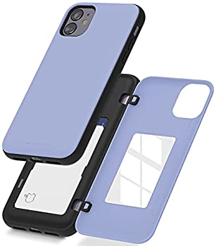 Goospery iPhone 11 Wallet Case with Card Holder Protective Dual Layer Bumper Phone Case  Lilac Purple  IP11-MDB-PPL
