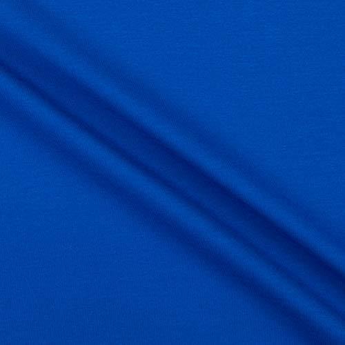 Telio Perla Oeko-Tex Cotton Spandex Knit Royal Blue Fabric by the Yard