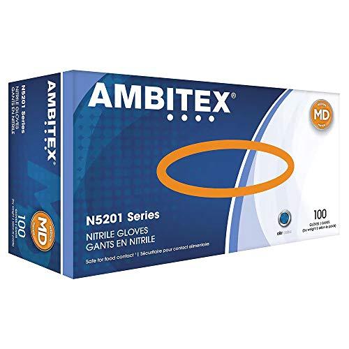 Medium - AMBITEX Nitrile Powder-Free Gloves, N5201 Series, Cardinal Health