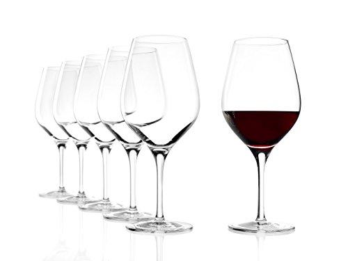 Verres à vin rouge Exquisit de Stölzle Lausitz, 480 ml, lot de 6, lavables au lave-vaisselle : des verres à vin rouge universels pour une pluralité de cépages, finition haut de gamme