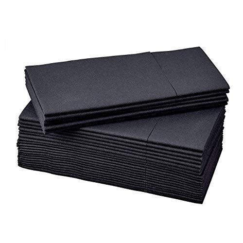 IKEA MOTTAGA Dikke zwarte papieren servetten 38x38cm - Set van 50