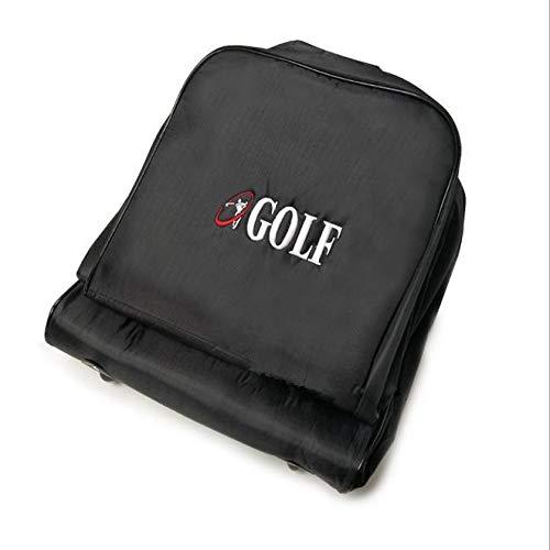SZMYLED Golftaschen Reise Golf Luftfahrt Tasche mit Rollen Club Storage Cover Faltbare Flugzeug Reisetasche schwarz