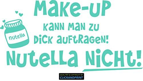 CLICKANDPRINT Aufkleber » Nutella, 220x110,6cm, Mint • Dekoaufkleber/Autoaufkleber/Sticker/Decal/Vinyl