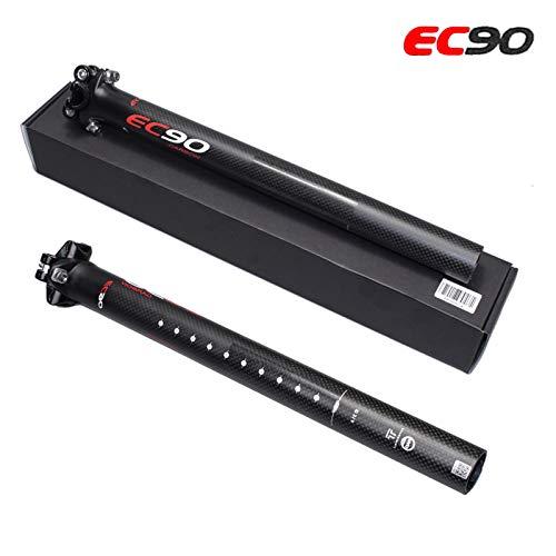 31.6, 350 350mm LRG tija de sill/ín de Fibra de Carbono y Bicicleta de monta/ña 27.2//30.8//31.6mm tija de Bicicleta de Fibra de Carbono 300mm 400mm