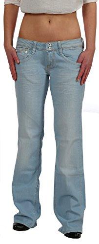 Kuyichi Damen Bootcut Jeans Hüftjeans Amy Summer Blue Fair Trade, Größe:W30L34