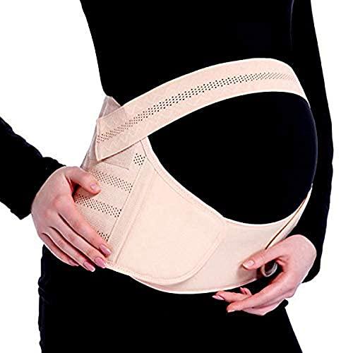 Baby Bucket Pregnancy and Back Support Maternity Belly Brace Belt Maternity Belt (L Pink-XL)